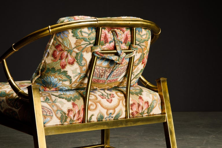 Brass Lounge Chair by Charles Pengally for Mastercraft, c. 1970 Italy For Sale 12