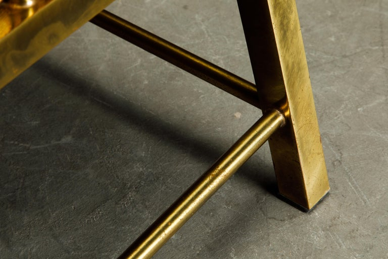 Brass Lounge Chair by Charles Pengally for Mastercraft, c. 1970 Italy For Sale 13