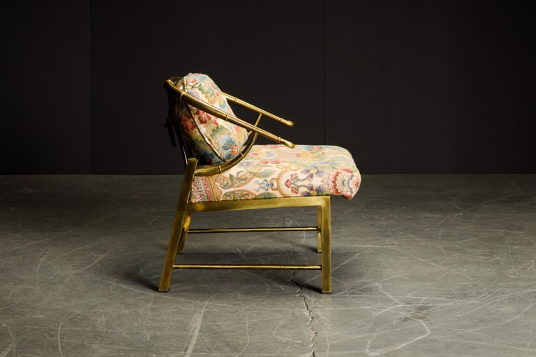 Italian Brass Lounge Chair by Charles Pengally for Mastercraft, c. 1970 Italy For Sale