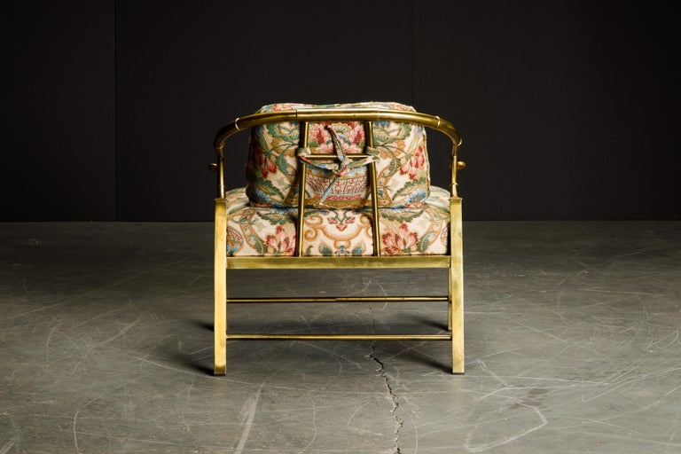 Late 20th Century Brass Lounge Chair by Charles Pengally for Mastercraft, c. 1970 Italy For Sale