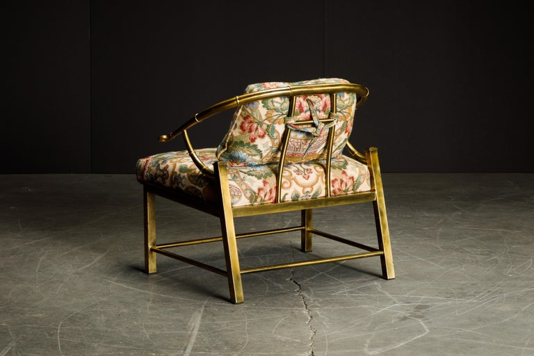 Brass Lounge Chair by Charles Pengally for Mastercraft, c. 1970 Italy For Sale 1