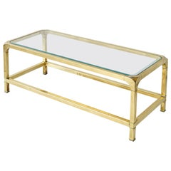 Mastercraft Brass and Glass Coffee Table