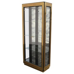 Mastercraft Brass and Lacquer Display or Vitrine, circa 1970s