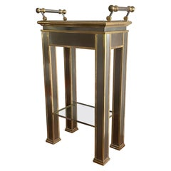 Mastercraft Brass and Steel Table with Removable Tray Top