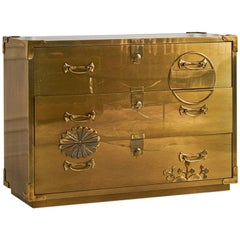 Mastercraft Brass Clad Three-Drawer Dresser