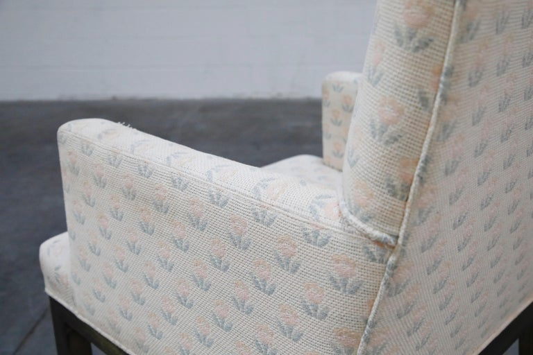 Mastercraft Brass Dining Armchairs with Grandma Fabric, Set of Four, circa 1970s For Sale 10