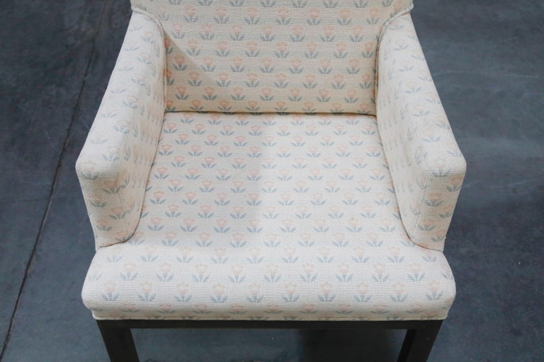Mastercraft Brass Dining Armchairs with Grandma Fabric, Set of Four, circa 1970s For Sale 2