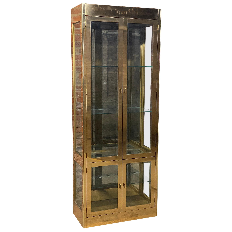 Mastercraft Brass Display Cabinet