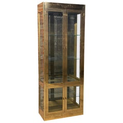 Mastercraft Brass Display Cabinet