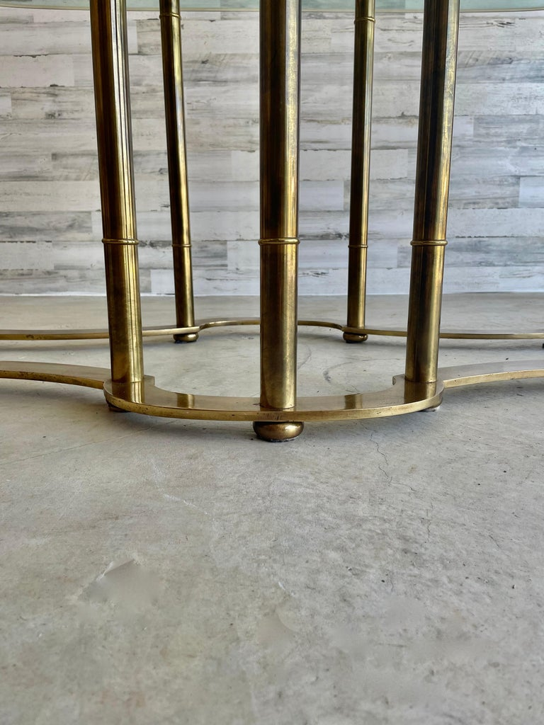 Mastercraft Brass Faux Bamboo Dining Table For Sale 4