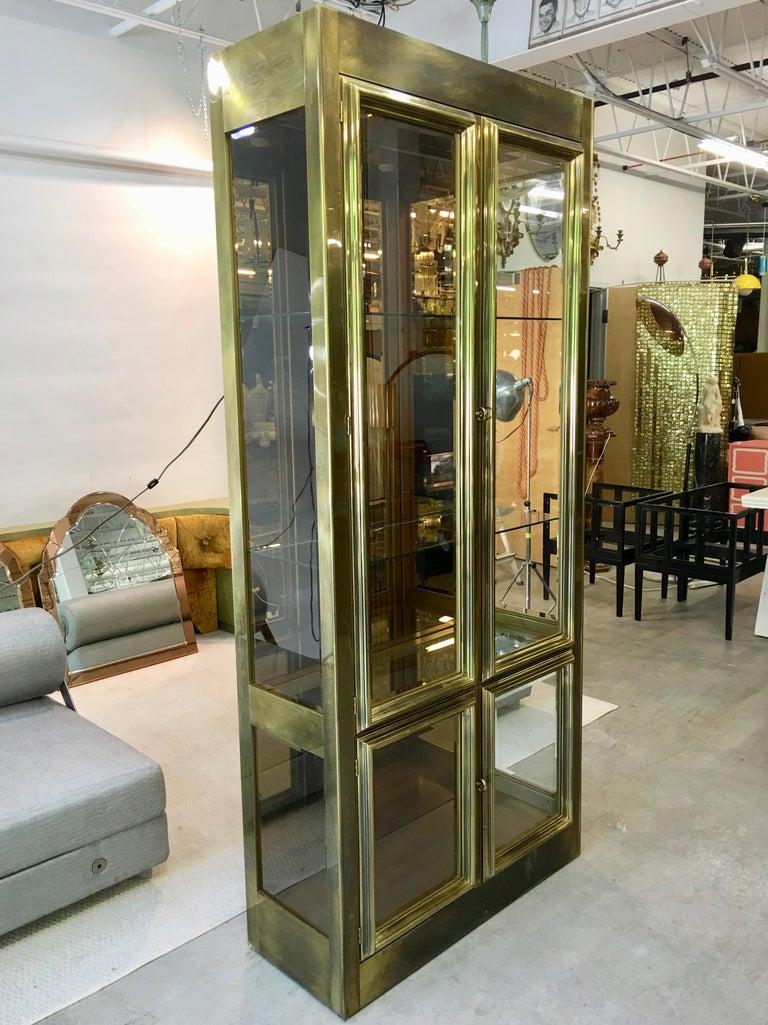 Mastercraft Brass & Glass Vitrine For Sale 12
