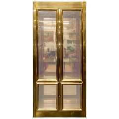 Mastercraft Brass & Glass Vitrine