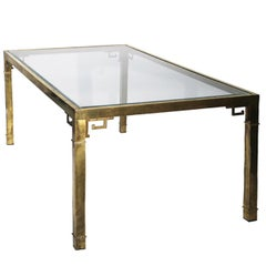 Mastercraft Brass Greek Key Dining Table
