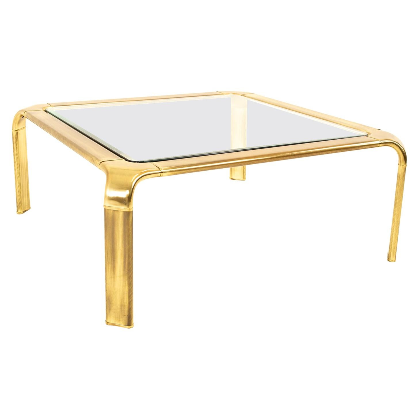 Mastercraft Brass Mid Century Coffee Table