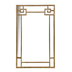 Mastercraft Brass Mirror Hollywood Regency Greek Key Style