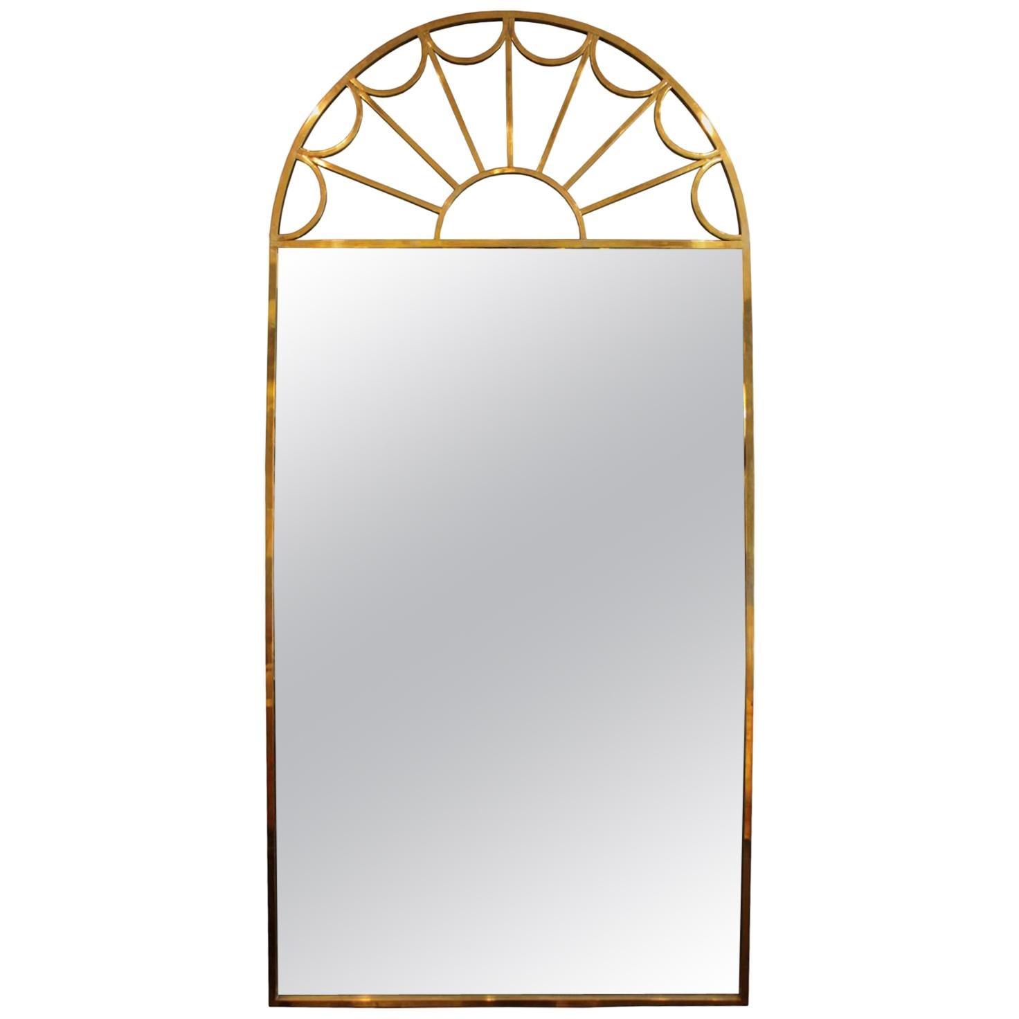 Mastercraft Brass Palladian Wall Mirror
