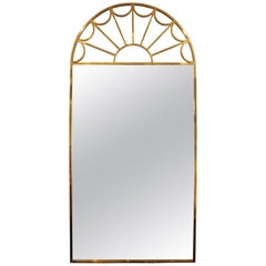 Mastercraft Brass Palladian Wall Mirror