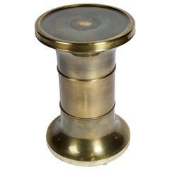 Mastercraft Brass Side Table or Pedestal Table