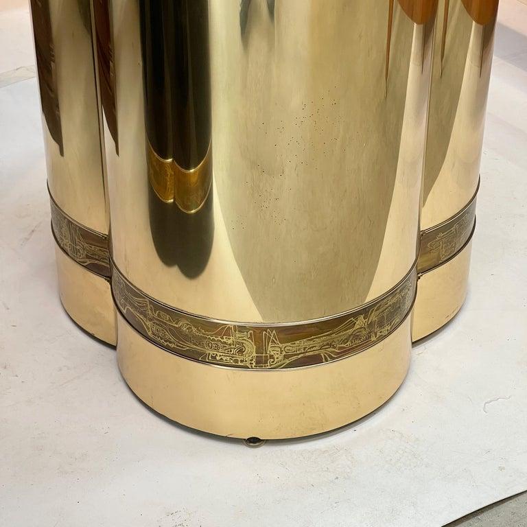 Mastercraft Brass Trefoil Table by Bernhard Rohne For Sale 4