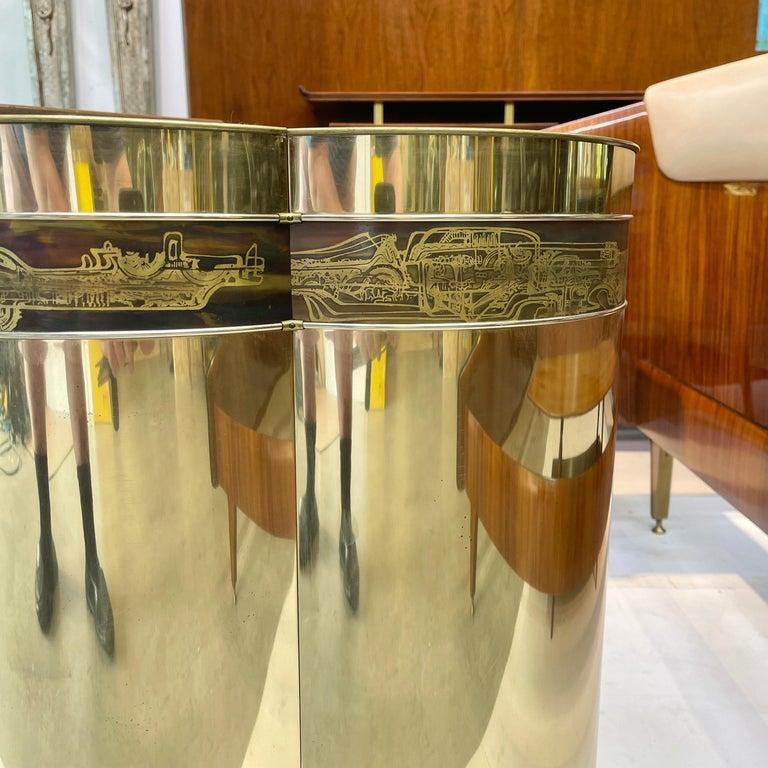 Mastercraft Brass Trefoil Table by Bernhard Rohne For Sale 5