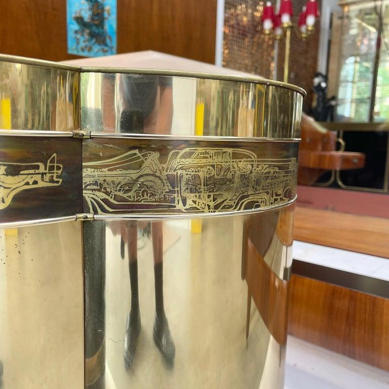 Mastercraft Brass Trefoil Table by Bernhard Rohne For Sale 6