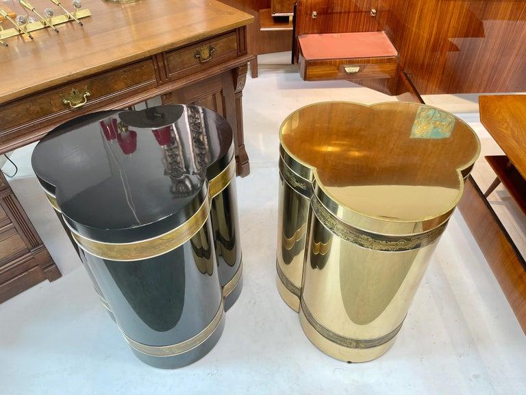 Mastercraft Brass Trefoil Table by Bernhard Rohne For Sale 8
