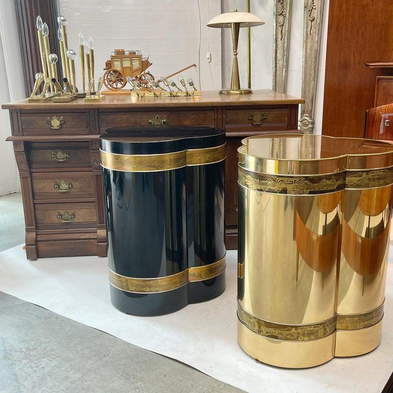 Mastercraft Brass Trefoil Table by Bernhard Rohne For Sale 9