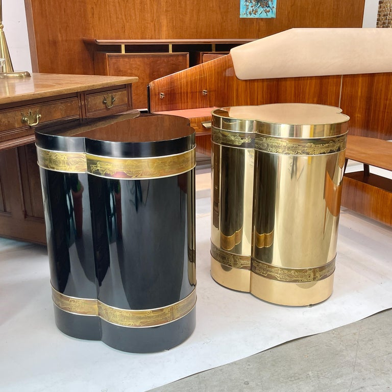 Mastercraft Brass Trefoil Table by Bernhard Rohne For Sale 10
