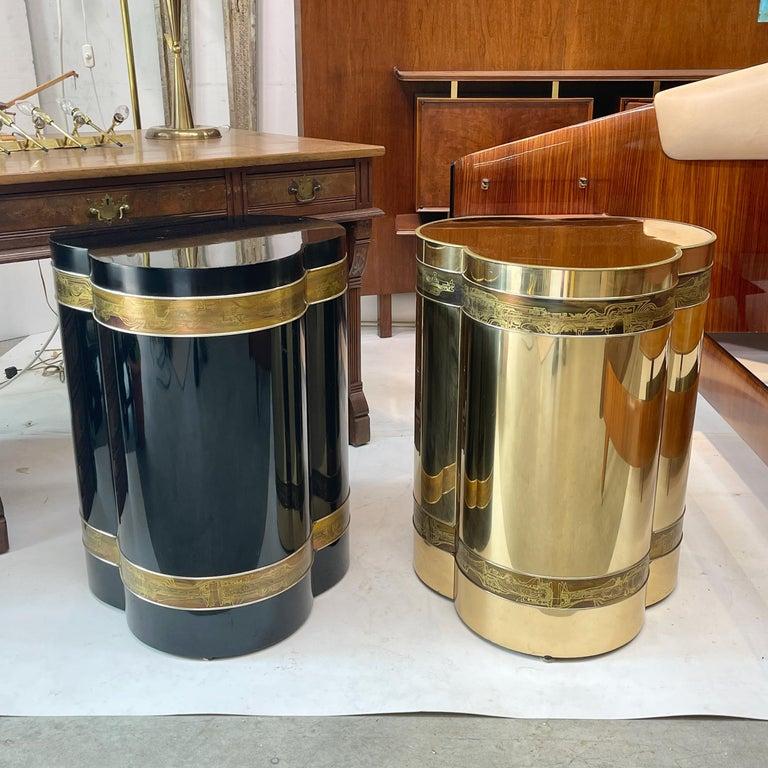 Mastercraft Brass Trefoil Table by Bernhard Rohne For Sale 11