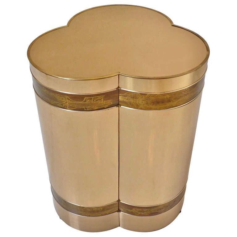 Mastercraft Brass Trefoil Table by Bernhard Rohne For Sale 12