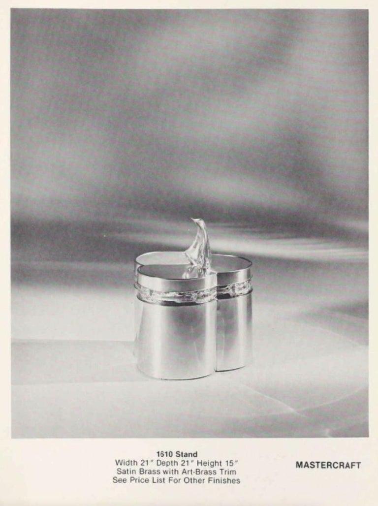 Mastercraft Brass Trefoil Table by Bernhard Rohne For Sale 13