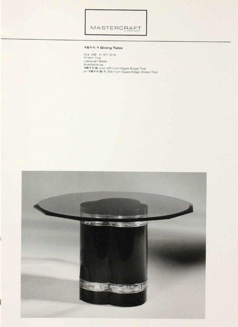 Mastercraft Brass Trefoil Table by Bernhard Rohne For Sale 1