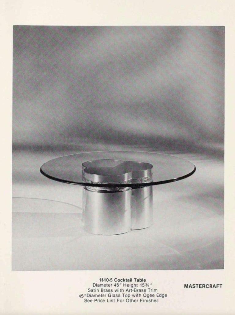Mastercraft Brass Trefoil Table by Bernhard Rohne For Sale 2