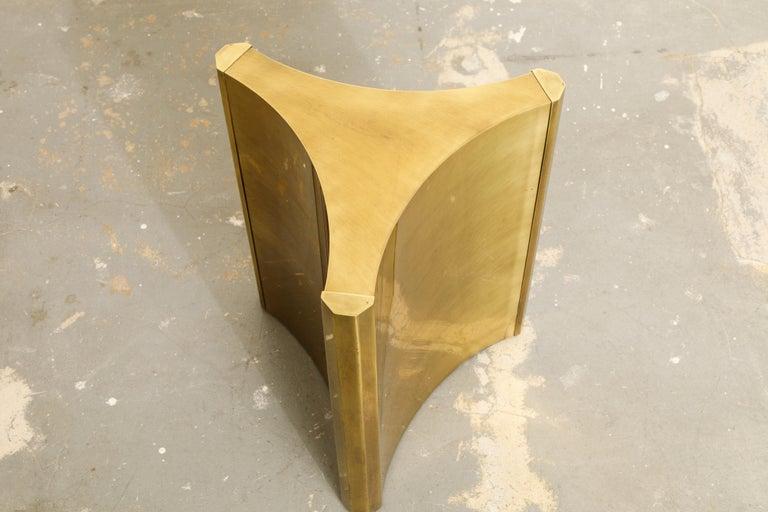 Mastercraft Brass 'Trilobi' Triangular Dining Table or Desk Bases, circa 1970 13
