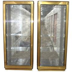 Mastercraft Brass Vitrine Cabinets