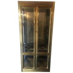 Mastercraft Brass Vitrine/Display Cabinet