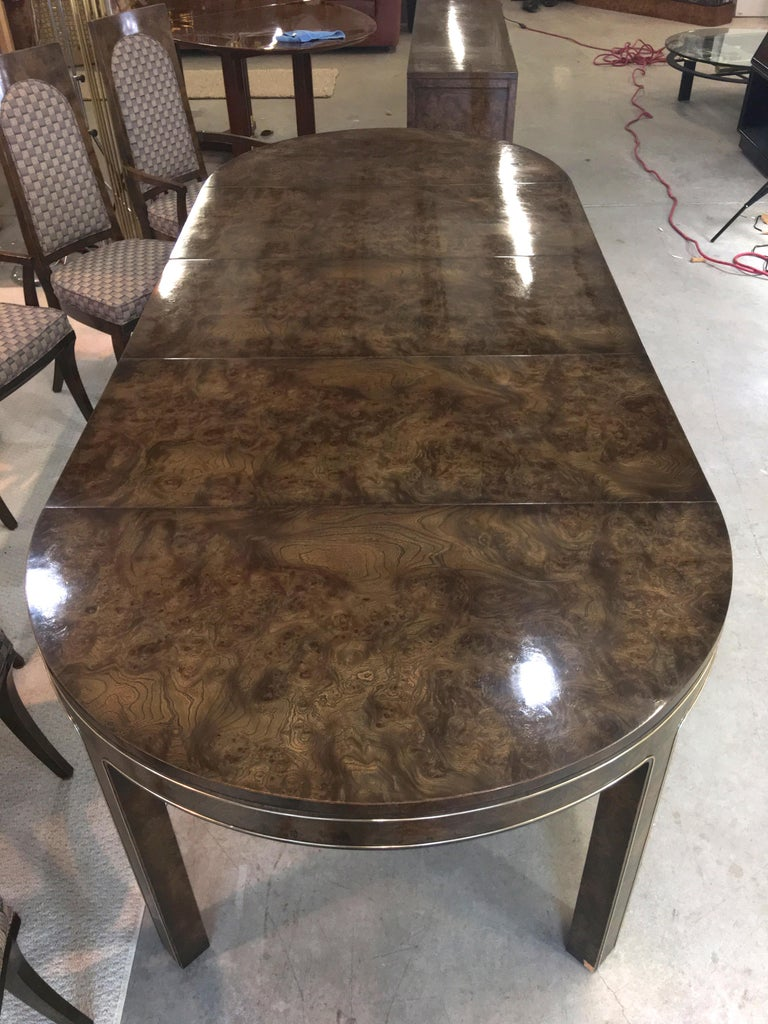 Mastercraft Burl and Brass Sideboard Buffet For Sale 12