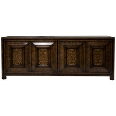 Mastercraft Burl and Brass Sideboard