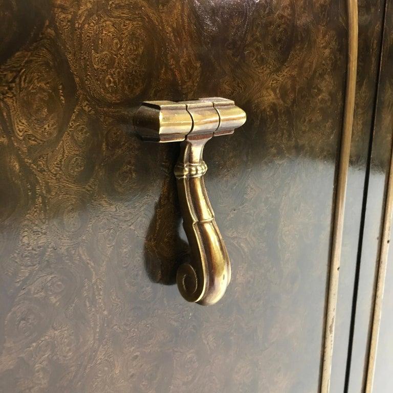 Mastercraft Carpathian Elm and Brass Sideboard For Sale 11