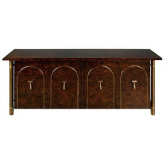 Mastercraft Carpathian Elm and Brass Sideboard