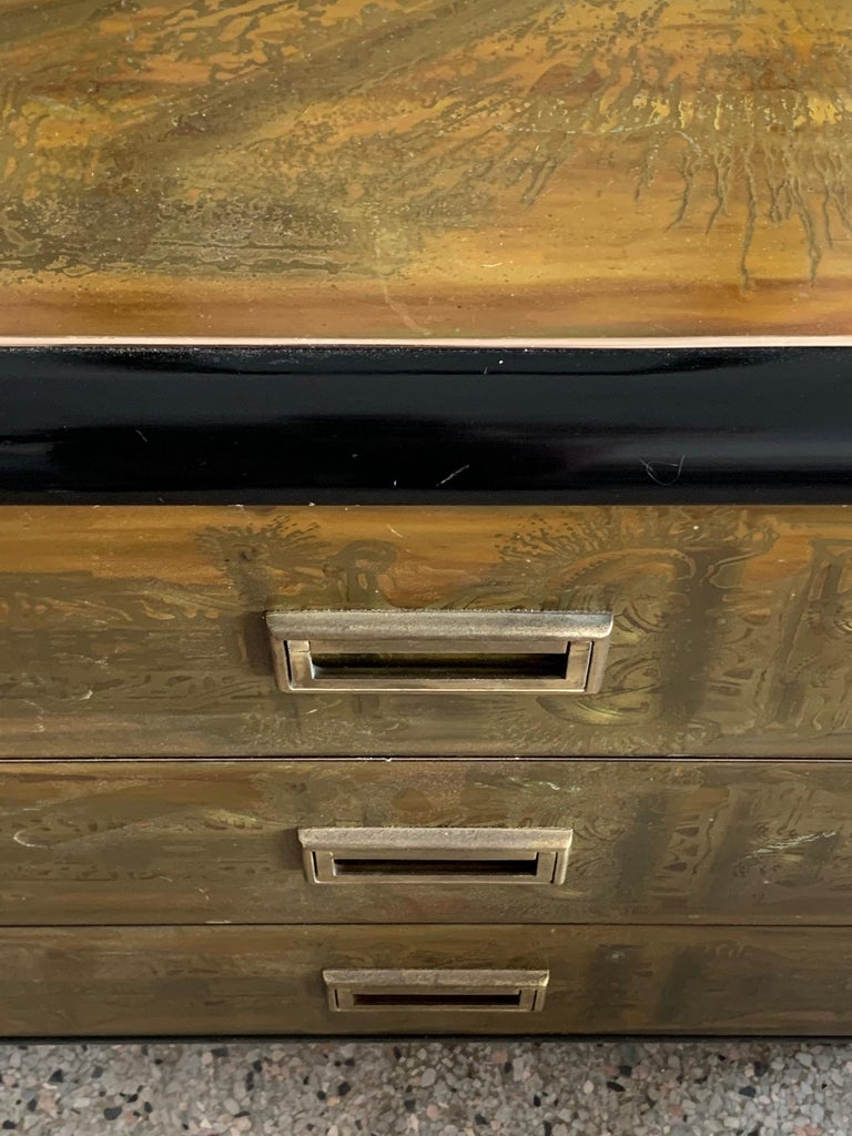 Mastercraft Chest and Matching Mirror by Berhardt Rohne For Sale 5