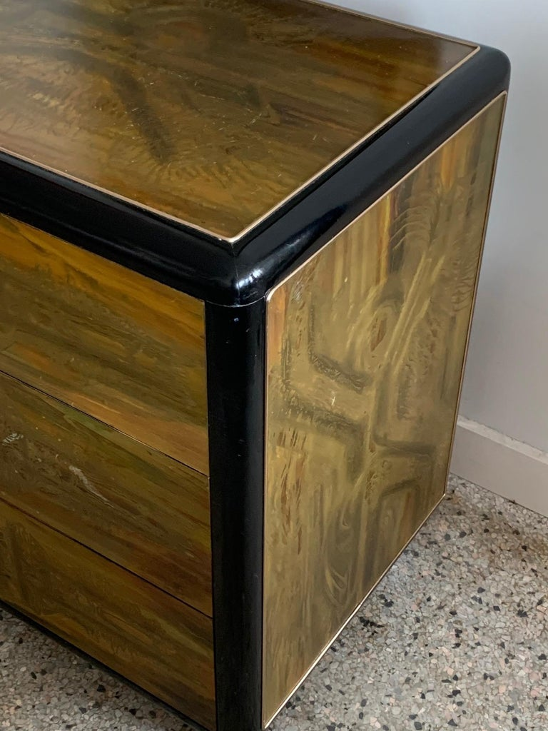American Mastercraft Chest and Matching Mirror by Berhardt Rohne For Sale