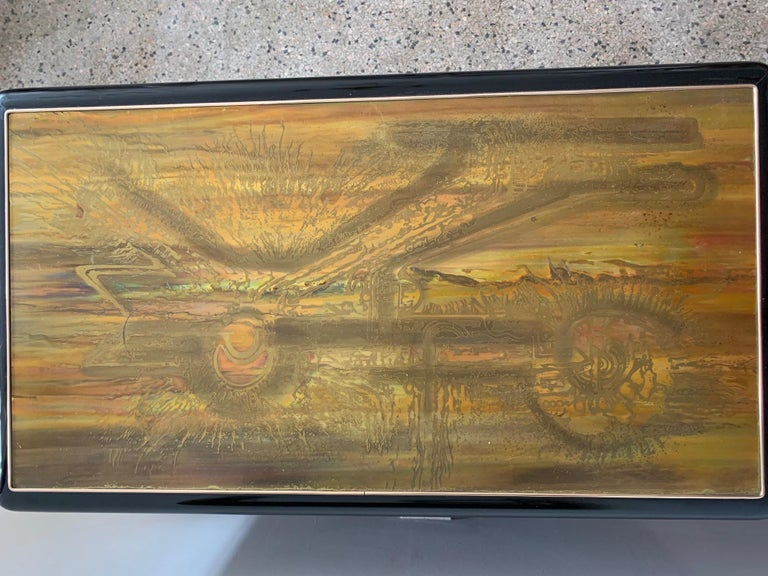 Mastercraft Chest and Matching Mirror by Berhardt Rohne For Sale 2