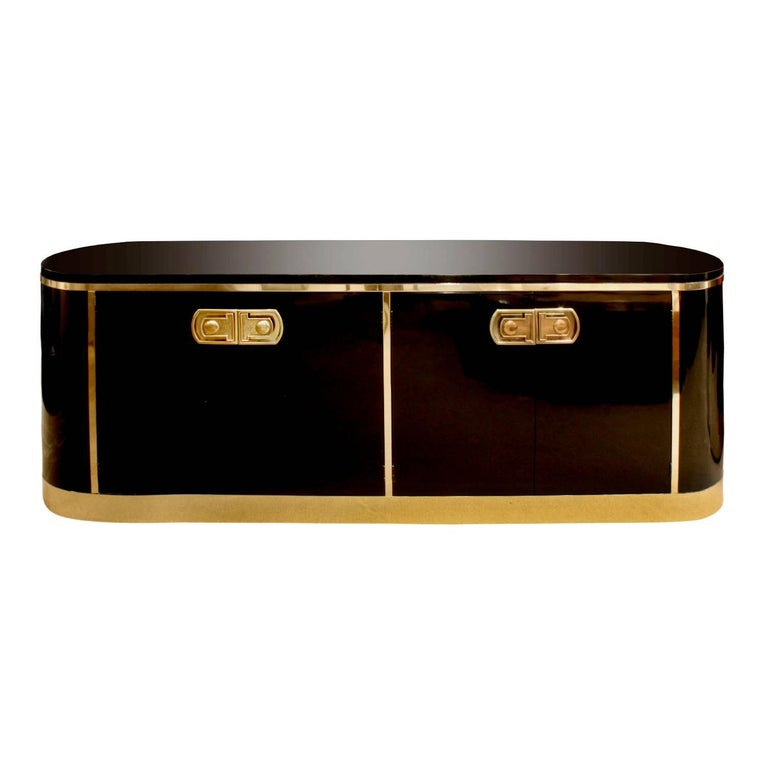 Mastercraft Chic Credenza with Rounded Ends 1970s