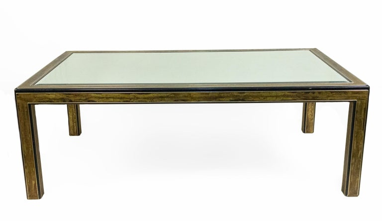 American Mastercraft Chinoiserie Dining Table with Mirrored Top For Sale