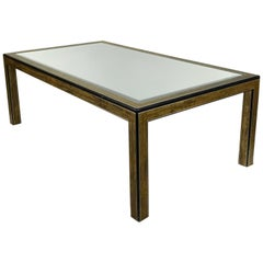 Mastercraft Chinoiserie Dining Table with Mirrored Top