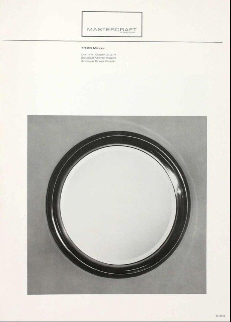 American Mastercraft Circular Brass Mirror For Sale