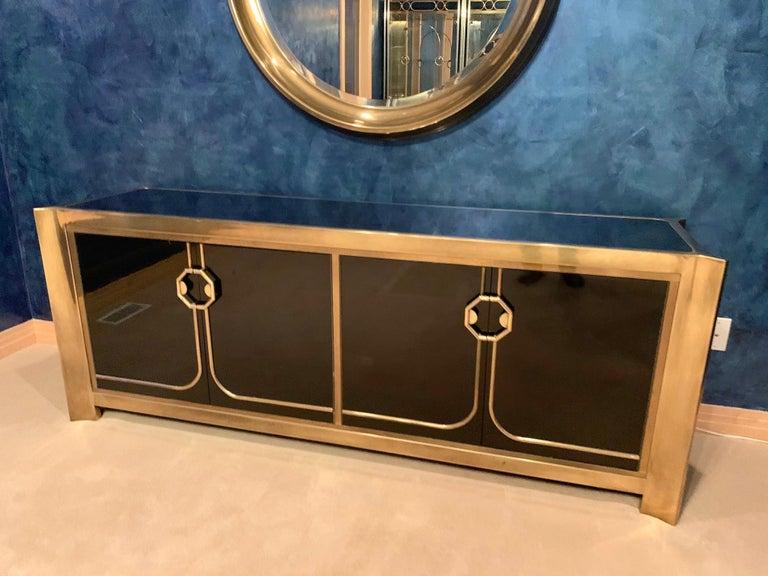 Mastercraft Circular Brass Mirror For Sale 2