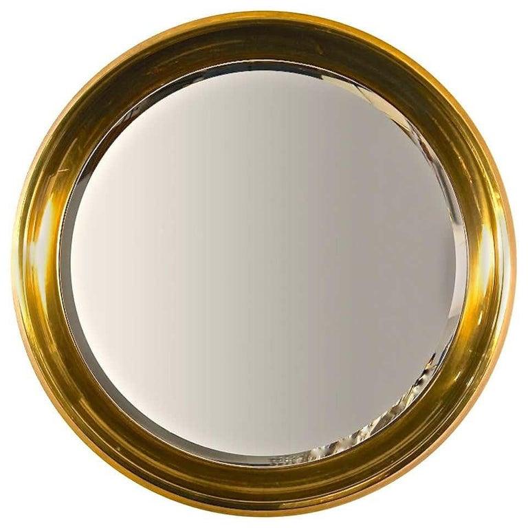 Mastercraft Circular Brass Mirror For Sale 3