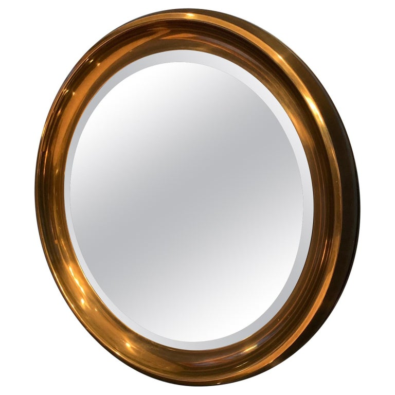 Mastercraft Circular Brass Mirror For Sale